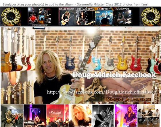 Doug Aldrich - Steamroller2012 photos