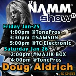 Doug Aldrich NAMM 2013