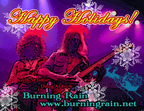 Happy Holidays! from Burning Rain